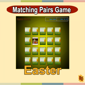 Image of Seasonal Products by R&C Easter Matching Pairs Game G1-4