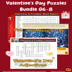 Image of Seasonal Products by R&C Valentine's Puzzles Bundle G6-8