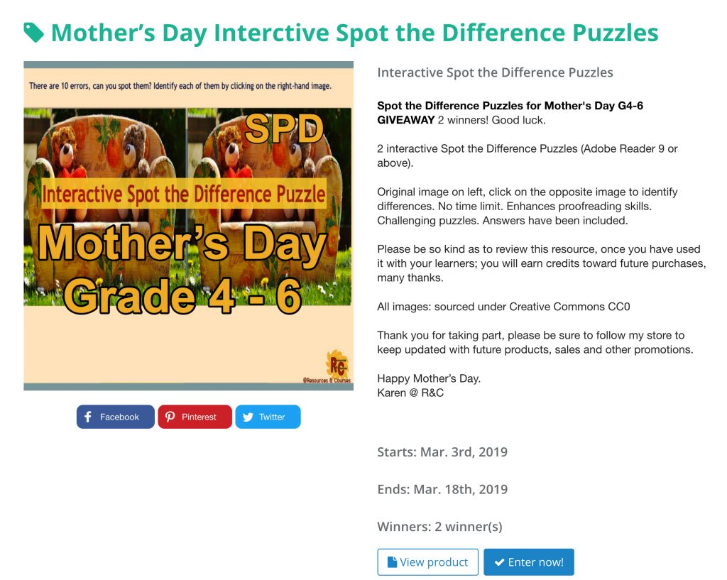 Mother's Day R&C Giveaway Promotions