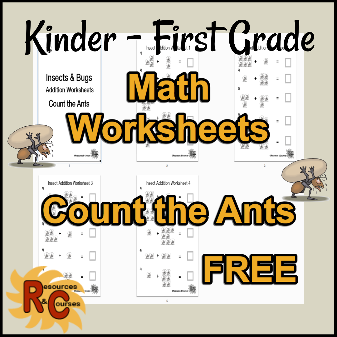 R&C Freebies Math Worksheet Kinder-First grade
