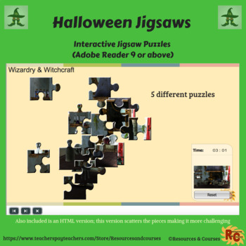 Image of Seasonal Products by R&C  Halloween Jigsaw Collection for Grade 1-5