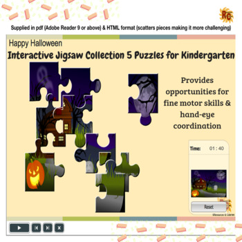 Image of Seasonal Products by R&C  Halloween Jigsaw Collection for Kindergarten