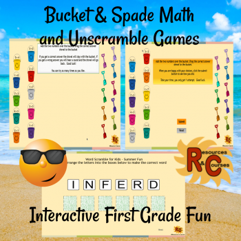 Image of Seasonal Products by R&C  Bucket & Spade Games for 1st Grade