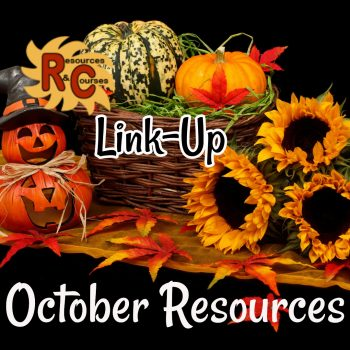 October Teacher Resources LinkUp  Parties image
