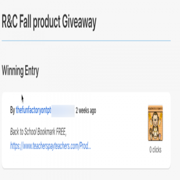 R&C Fall Giveaway Winner Image