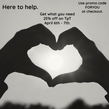 TpT Sale Image link to Store