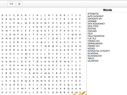 Word Search & Crossword