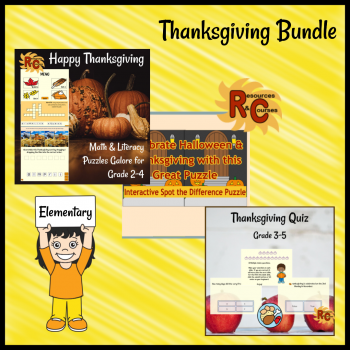 Thanksgiving Bundle Image, Boom Learning
